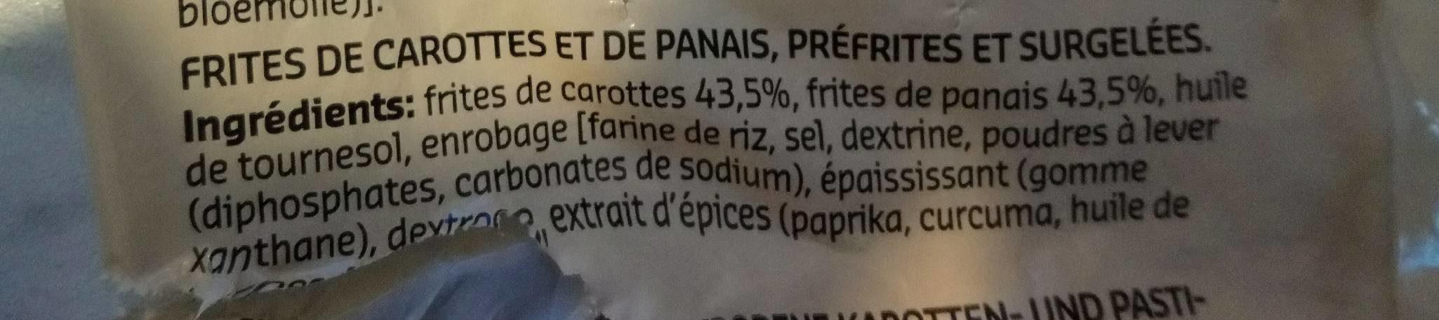 frites carottes panais - Ingrediënten - fr