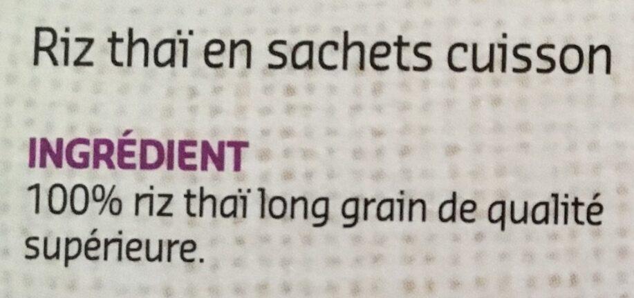 Thai jasmin - Ingrediënten