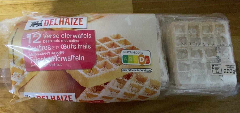 Gaufres aux oeufs frais soupoudrées de sucre - Product - fr