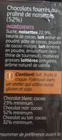 Fruits de mer chocolat - Ingredients
