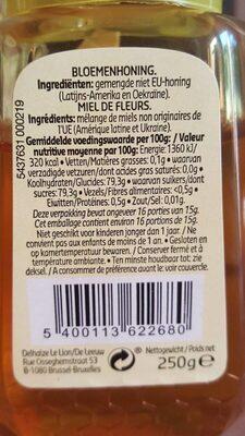 Honey fleurs - Voedingswaarden - fr