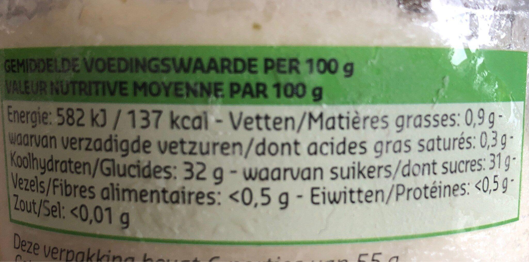 Sorbet Mojito - Voedingswaarden - fr