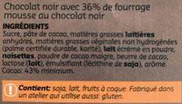 Chocolat noir mousse - Ingredients - fr
