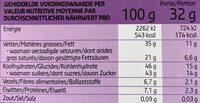 Chocolat noir mousse - Nutrition facts - fr