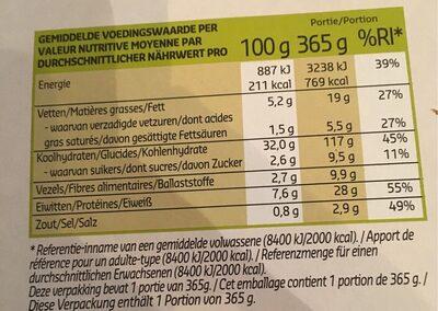 Bio Pizza Verdure Grigliate - Voedingswaarden - fr