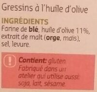 Grissini torinesi - Ingrediënten - fr