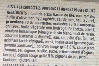 Pizza Verdure Grigliate - Ingrediënten