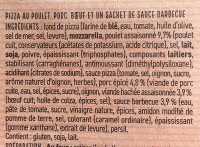 Pizza Cannibale - Ingrédients - fr