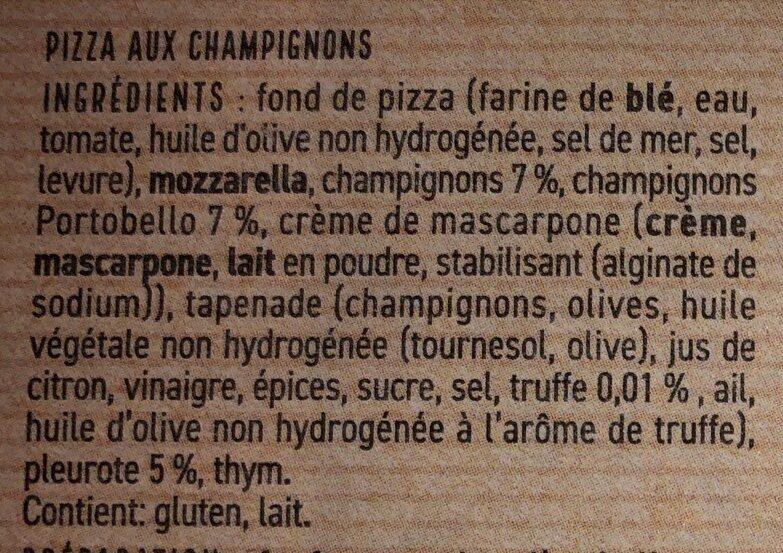 Pizza funghi - Ingrédients - fr