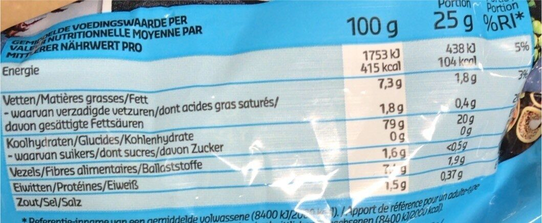 Soy crackers - Informations nutritionnelles - fr