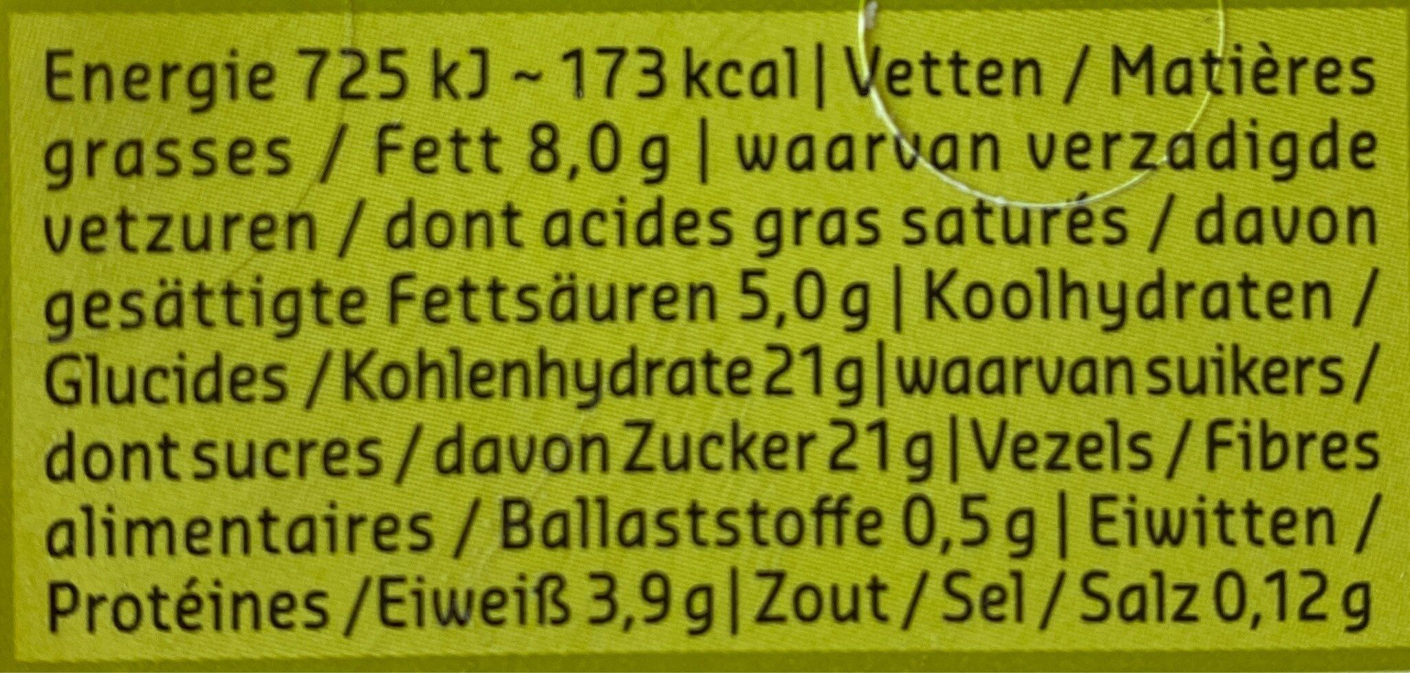 Creme glacee vanille bio - Voedingswaarden - fr