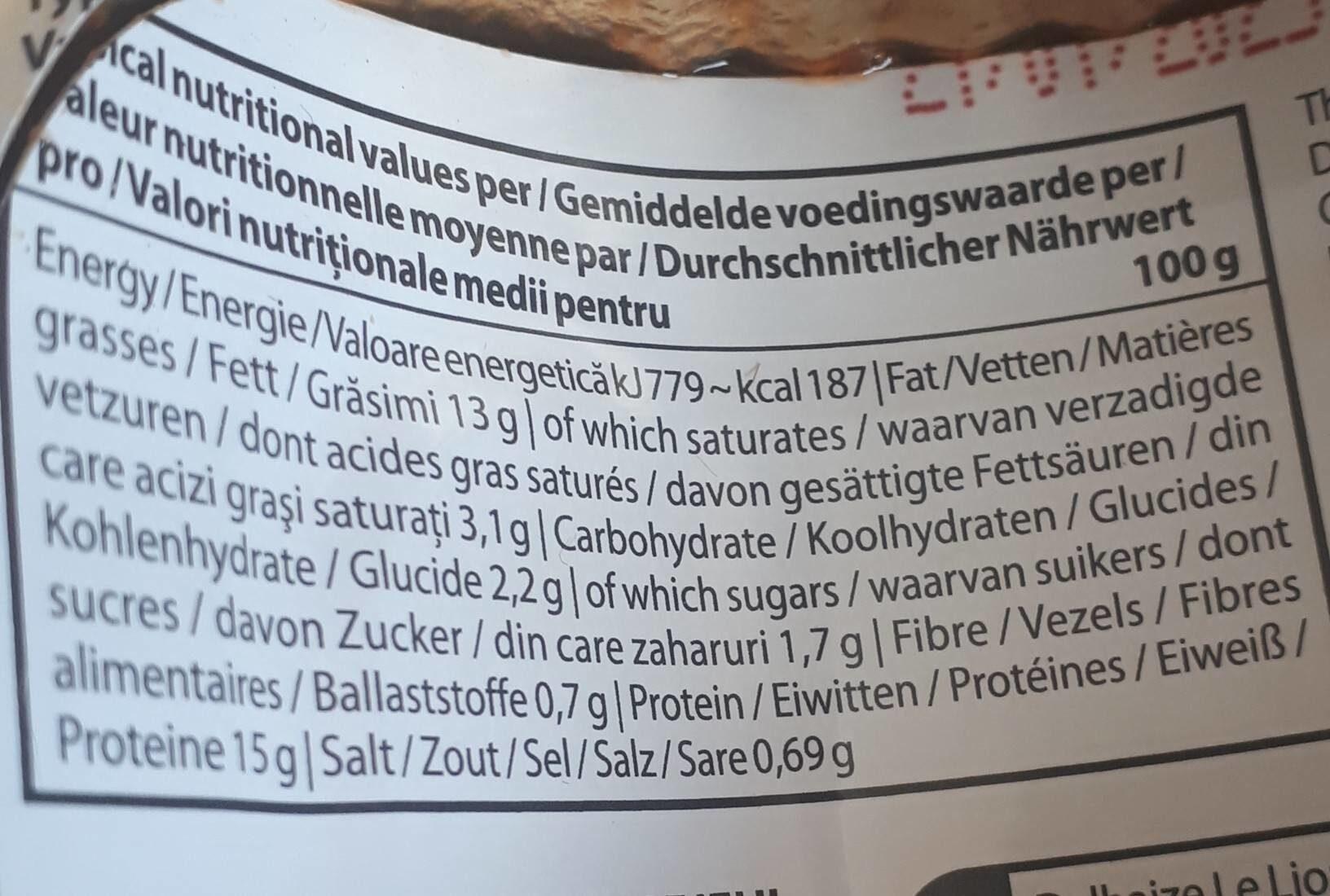 Filets de maquereaux sauce tomate - Informations nutritionnelles - fr