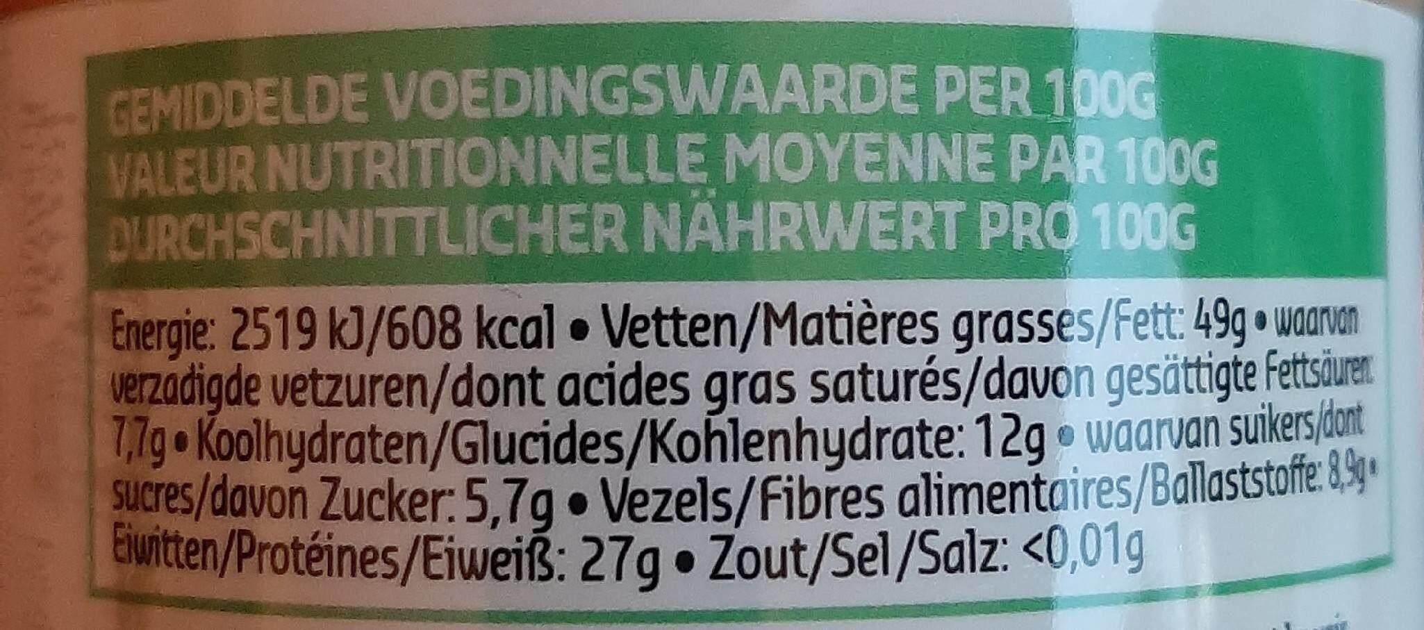 Beurre de Cacahuètes  100% Natural - Valori nutrizionali - fr