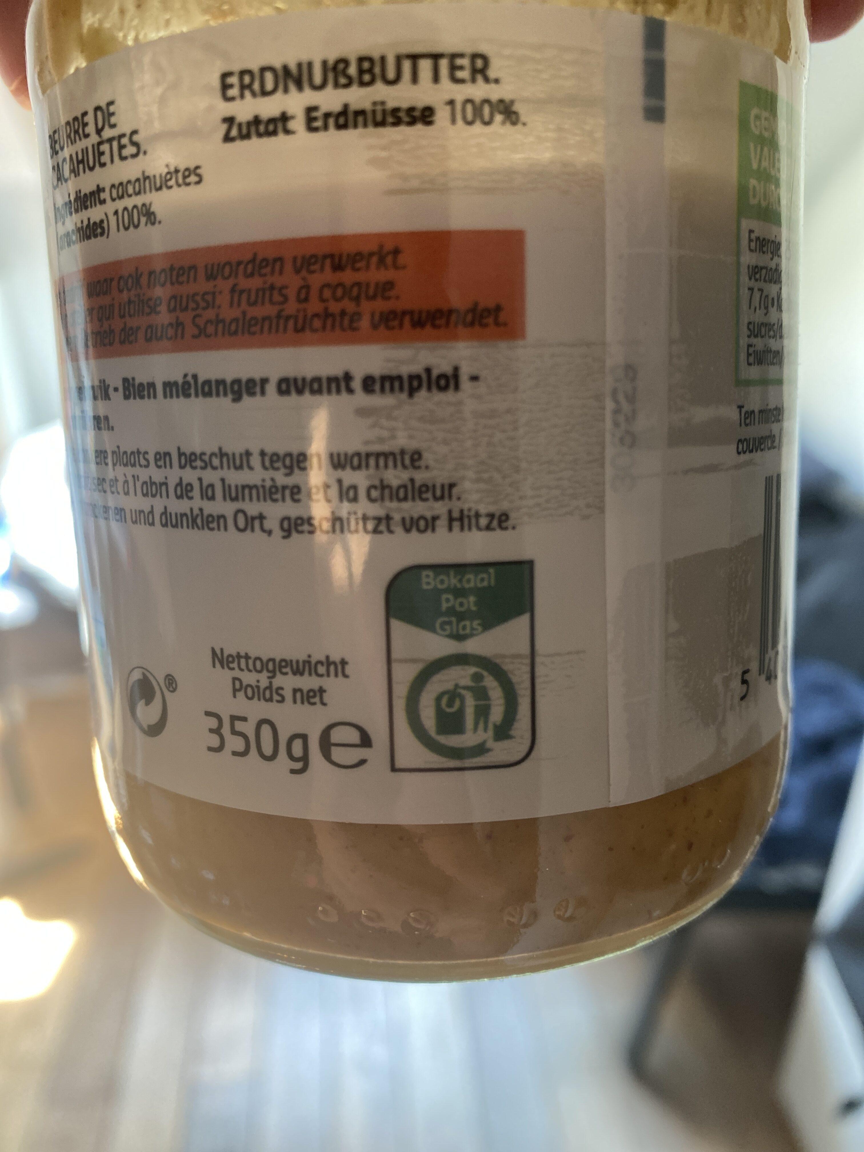 Beurre de Cacahuètes  100% Natural - Istruzioni per il riciclaggio e/o informazioni sull'imballaggio - fr