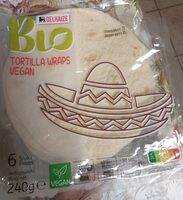 Tortilla wraps vegan bio delhaize - Product - fr