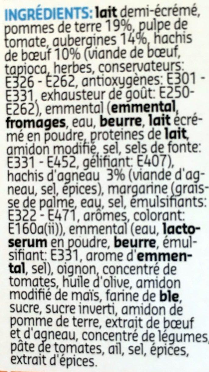 Moussaka - Ingrédients - fr