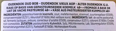 Oudendijk - Ingrediënten