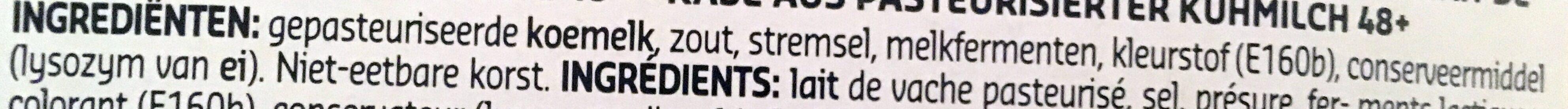 Mimolette - Ingrediënten - nl