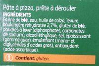 Pâte à pizza avec de la levure boulangère - Ingrédients