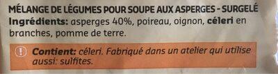 Mélange De Légumes Pour Soupe Aux Asperges - Ingrediënten