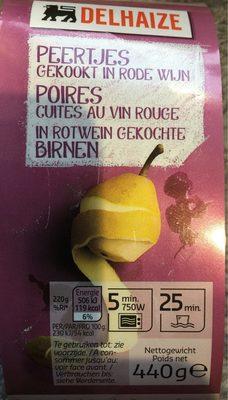 Poires cuites au vin rouge - Product