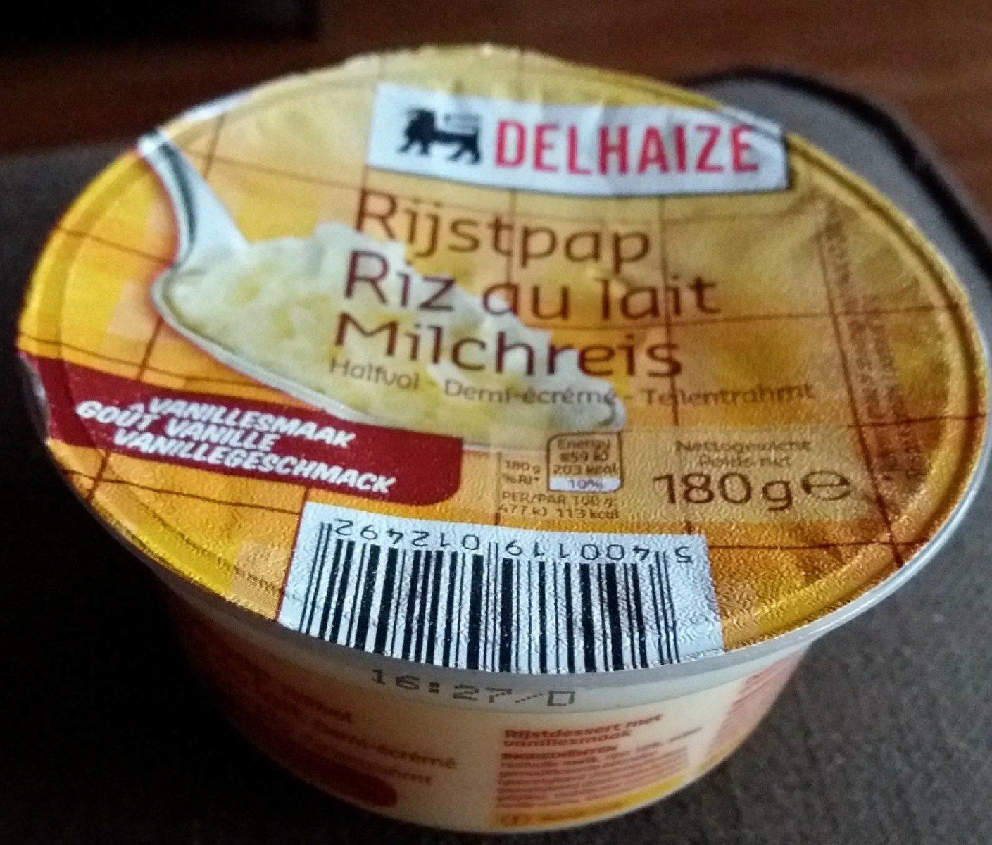 Riz au lait - demi-écrémé - Product - fr