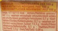 Riz au lait - demi-écrémé - Voedingswaarden - fr