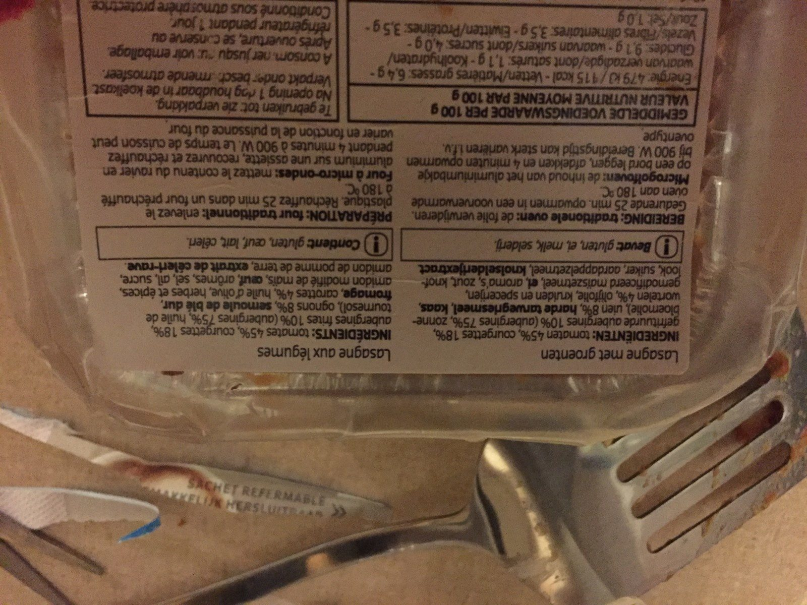 Lasagne aux légumes - Ingrediënten - fr