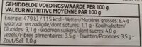 Lasagne aux légumes - Voedingswaarden - fr