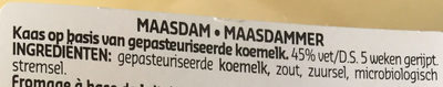 Maasdammer - Ingrediënten - nl