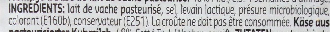 Gouda Jeune - Ingrédients