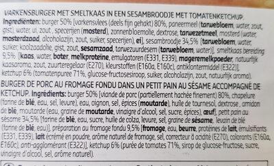 Snack cheese burger - Ingrediënten - fr