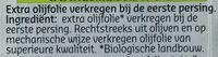 Huile D'olive Bio - Ingrediënten - nl