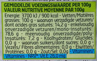 Huile D'olive Bio - Voedingswaarden - fr