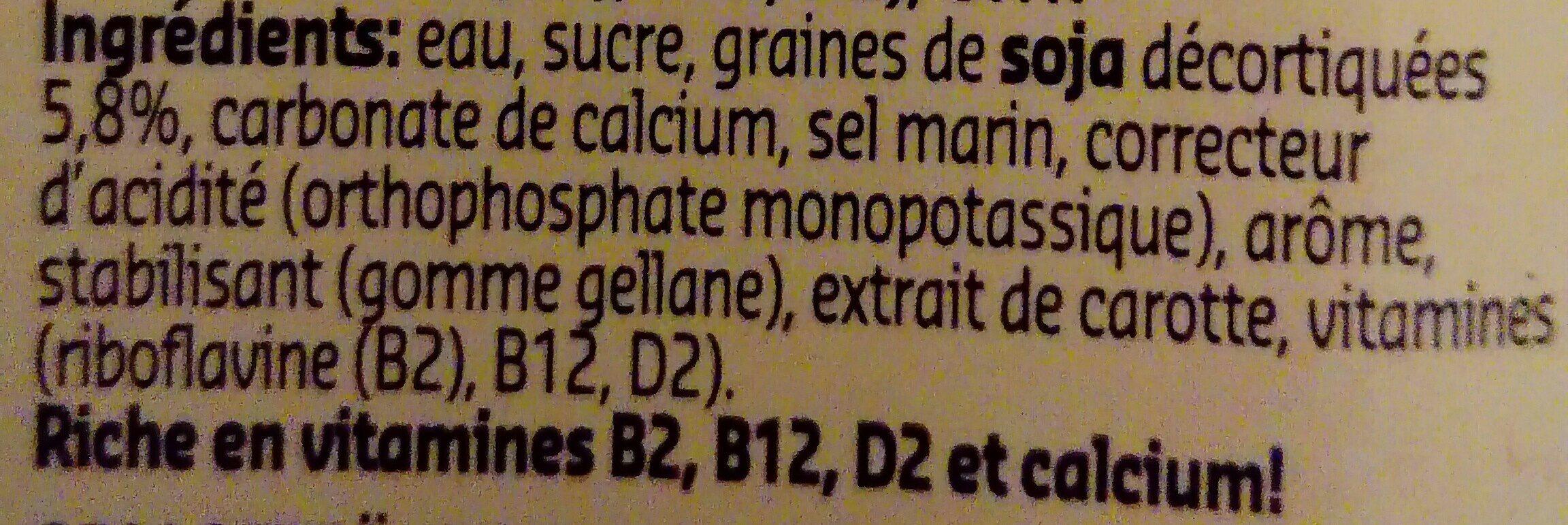 Soja goût Vanille - Ingredients - fr
