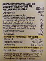 Soja goût Vanille - Nutrition facts - fr