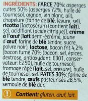 Grandi Girasoli aux asperges et bacon - Ingrediënten - fr