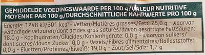 Bûche Sainte Maure - Nutrition facts