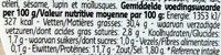 Salade de crevettes grises - Voedingswaarden - fr