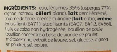 SOUP Potage aux asperges - Ingrediënten - fr