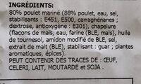 Poulet Croc croustillant - Ingrediënten - fr