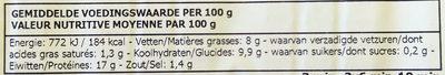 Poulet Croc croustillant - Voedingswaarden - fr