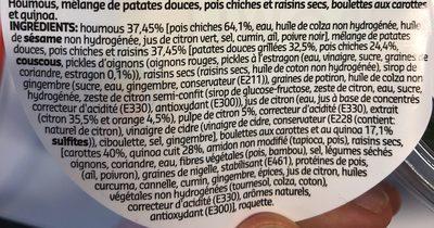Hummus bowl - Ingrediënten - fr