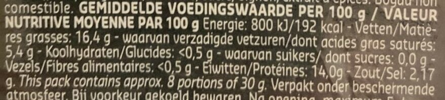 Krakowska fumé au poivre vert - Voedingswaarden - fr