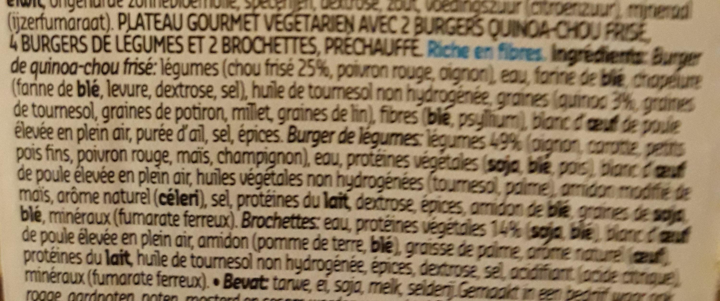 plateau gourmet veggie - Ingrediënten - fr
