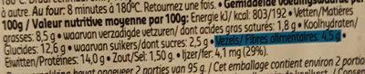 plateau gourmet veggie - Voedingswaarden - fr