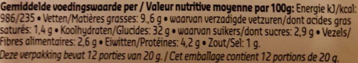 Boulettes mix - Voedingswaarden - fr