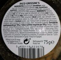 Pico grissini's - Ingrédients - fr