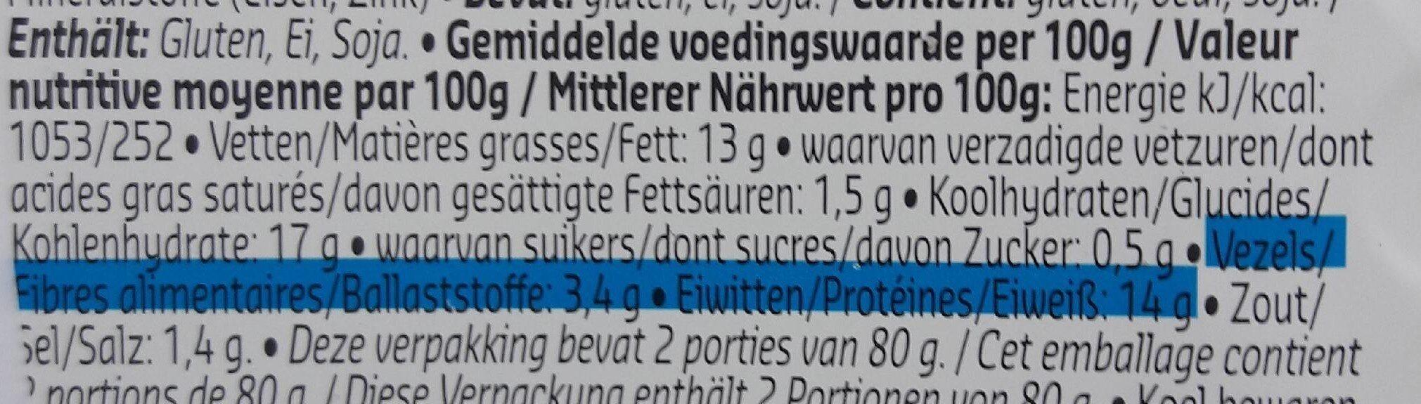 Nuggets nature - Voedingswaarden - fr