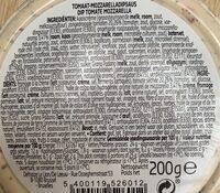 Tomate mozzarella - Ingredients